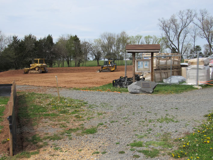 B.F. Wise and Son Excavating excavates the land in preparation of the Bright Spot playground installation on 4-22-18