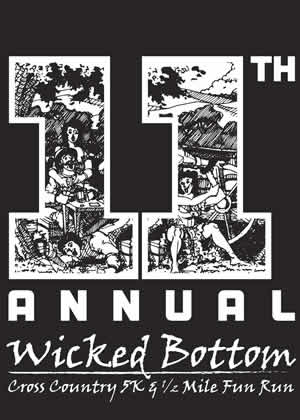 Wicked Bottom 5k & 1/2 Mile Fun Run Logo and link to page