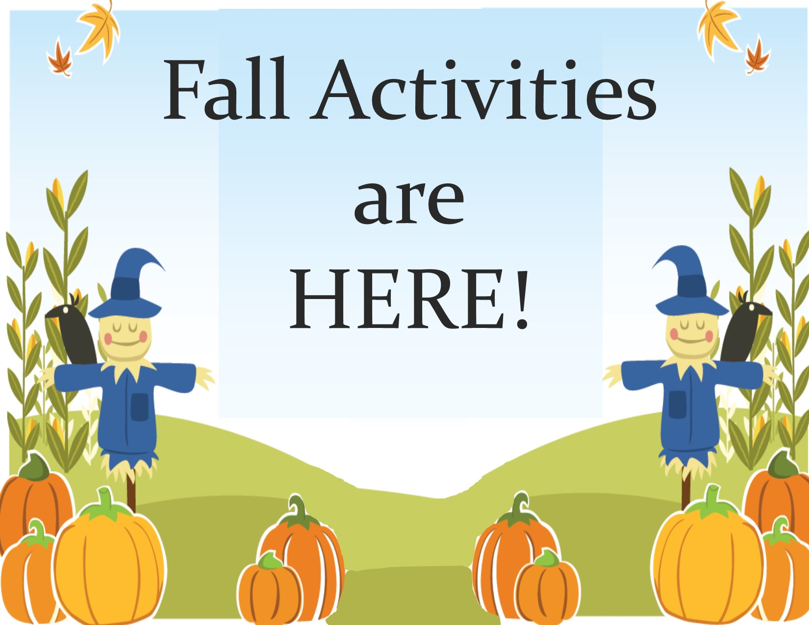 fall activities are here - letter size